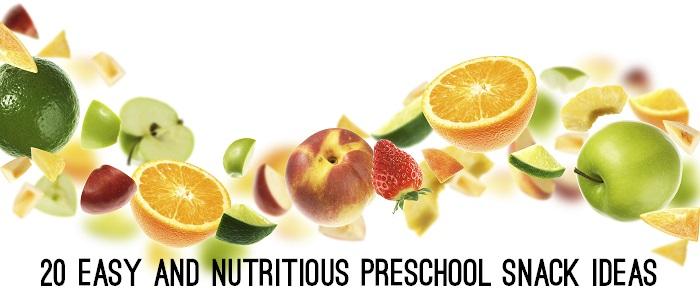 20 Easy and Nutritious Preschool Snack Ideas - www.tictacteach.com