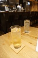 Complimentary umeshu soda