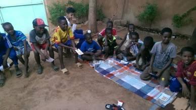 Atelier Musique Solidaire - les enfants au premier jour d'inscription
