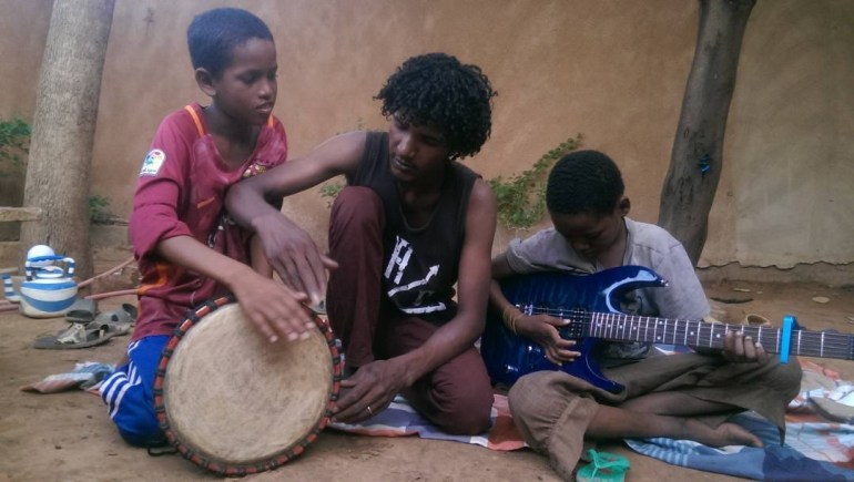 Learning drums and guitar