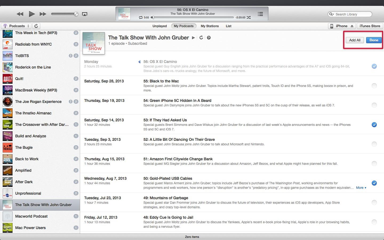 Explaining Podcasts in iTunes 11.1 - TidBITS