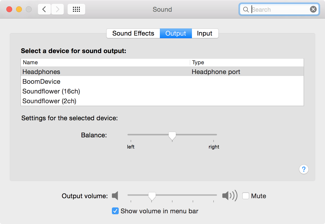 hight resolution of  in system preferences sound output the selected output remains stuck on headphones even when they re unplugged