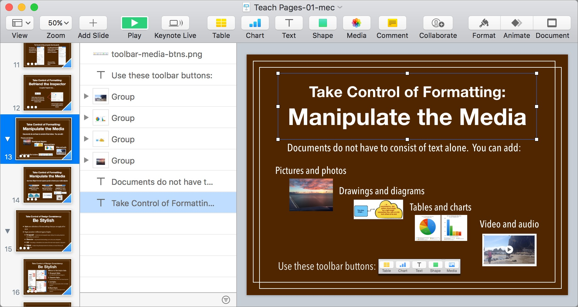iWork Updates Bring New and Returning Features - TidBITS