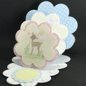 Triple Easel Scallops Card