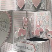 Tri-Fold Shutter Card Woodland Animals
