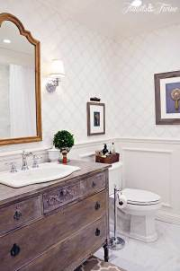 Guest Bathroom Makeover {Reveal}   TIDBITS&TWINE