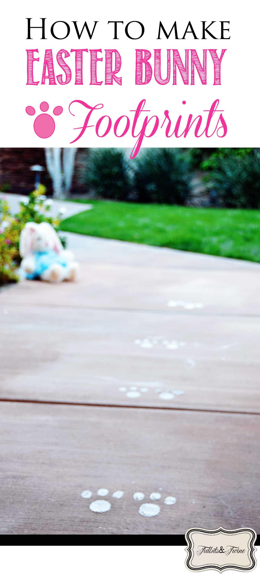 How To Make Bunny Footprints With Baby Powder : bunny, footprints, powder, Easter, Bunny, Footprints, Flour