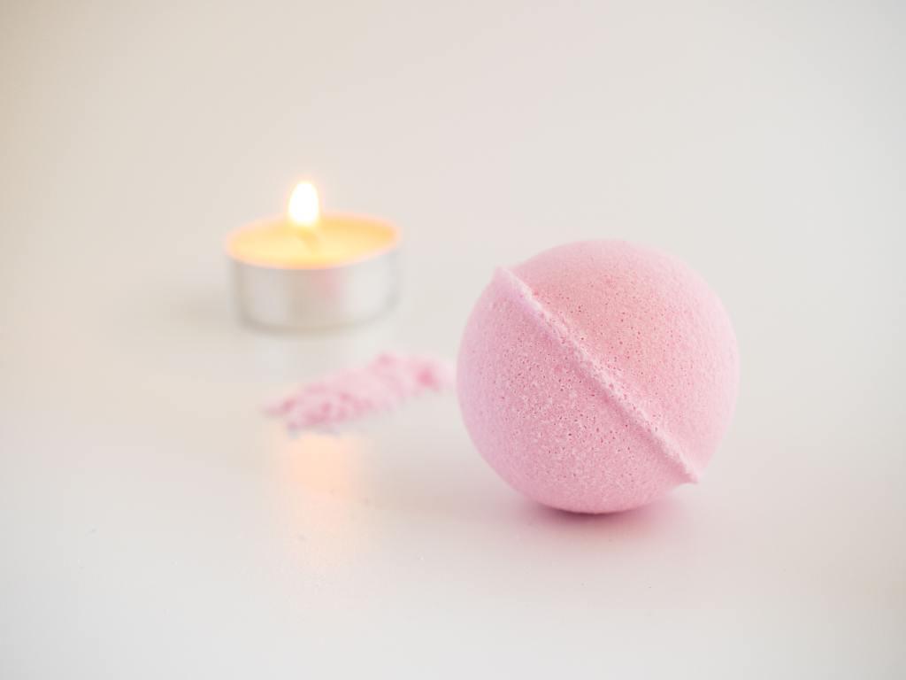 Self care bathing benefits photo of bath bomb