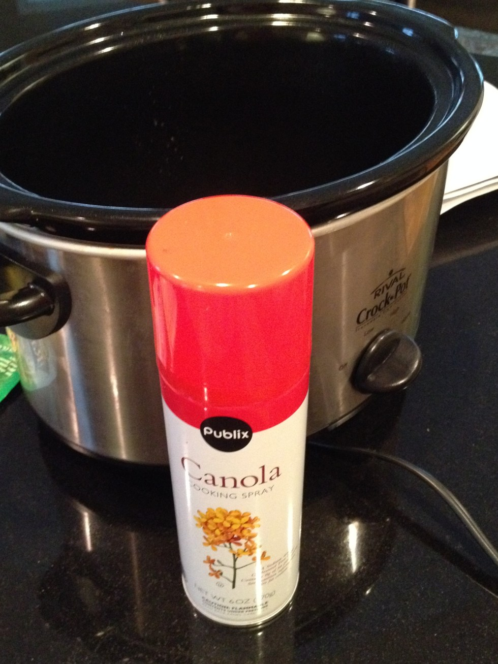 Spray crock pot with cooking spray - makes for easier clean up.