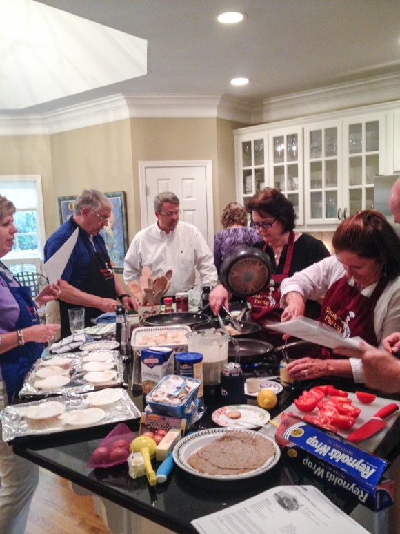 Saute Par-tay Gourmet Cooking Group:  We meet monthly during the fall and winter and cook together.  So much fun and fellowship with kindred spirits who love cooking  and eating good food.  We all cook!!!
