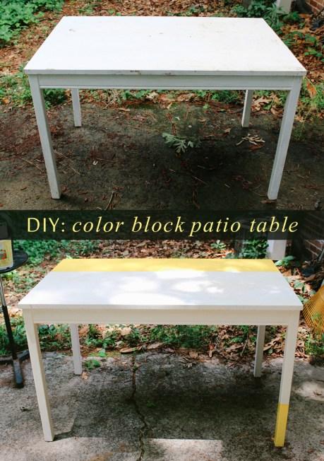 diy-color-block-patio-table-spraypainted