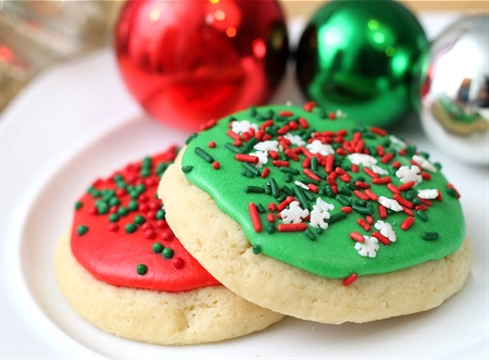 Image result for christmas cookies with red and green sprinkles
