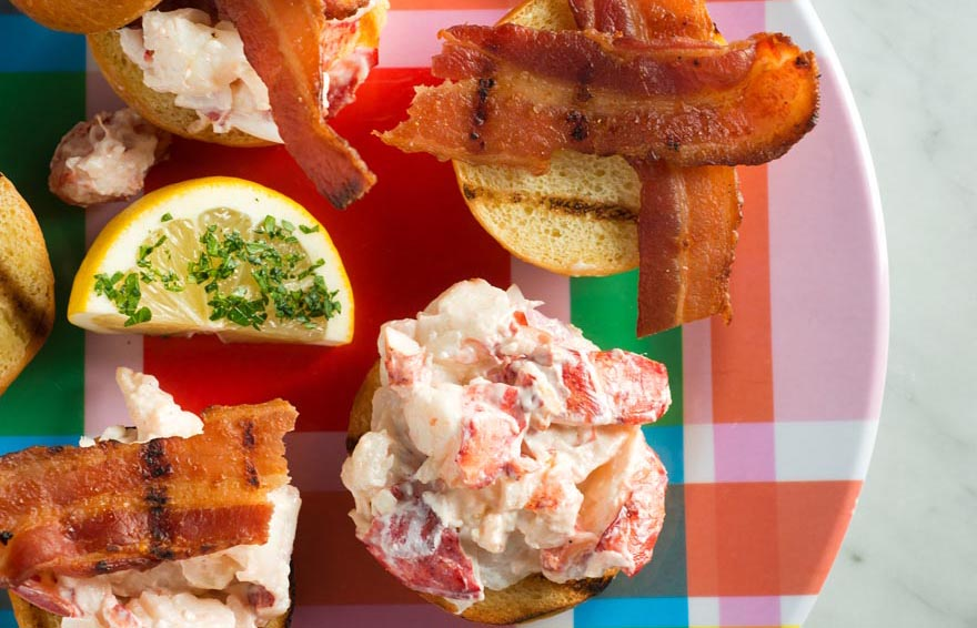 lobster sliders with bacon