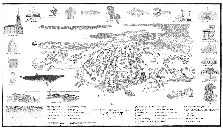 Bird's Eye View & Parish Map