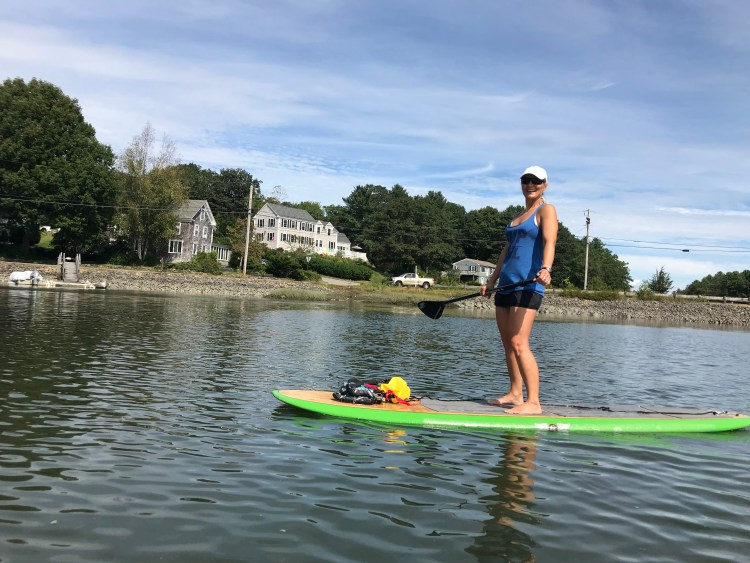 SUP Yoga in Maine and New Hampshire