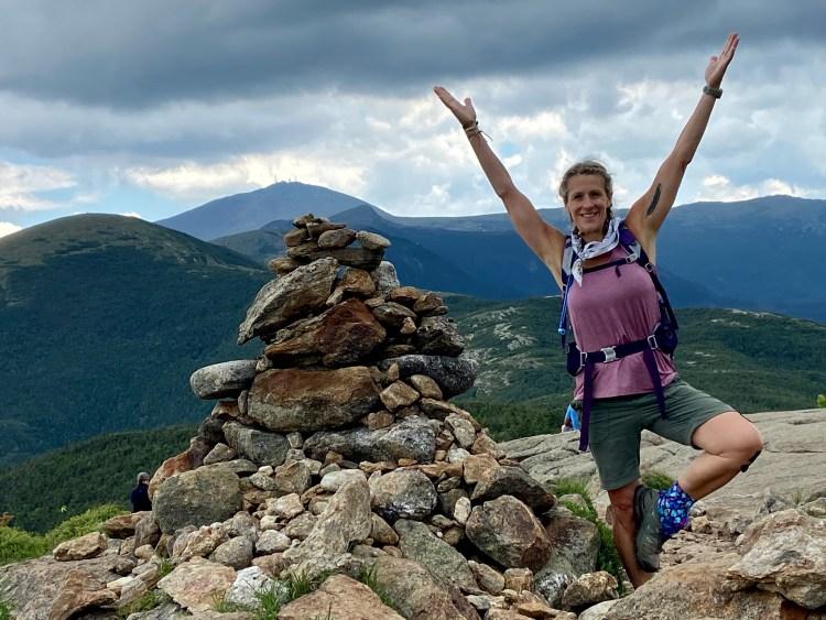 Yoga and Hiking, New Hampshire