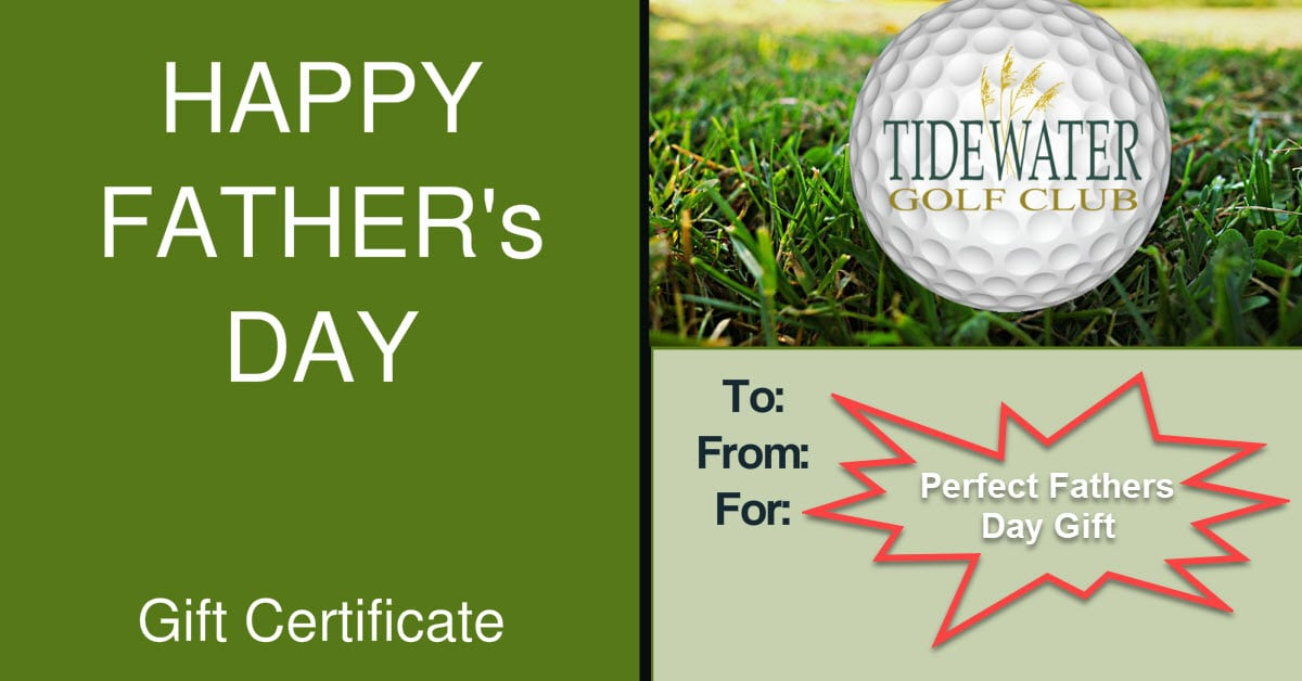 Perfect Fathers Day 2018 Gift Tidewater Golf Myrtle Beach-POst on Facebook