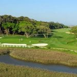 12th green and 13th hole Tidewater golf club