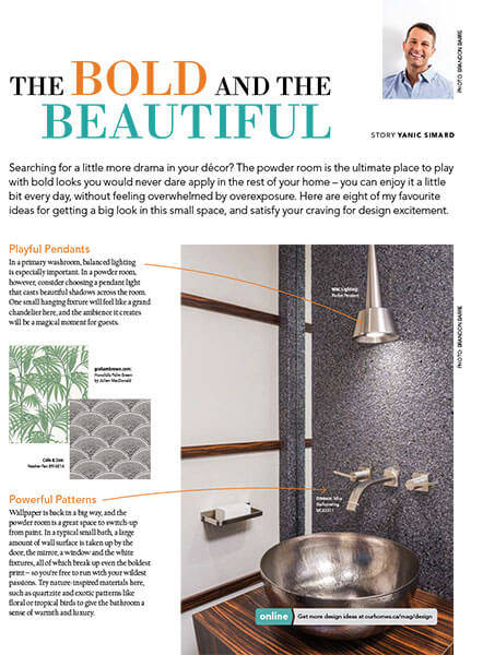 Our Homes Article - Design Ideas - The Bold And The Beautiful, November 2015