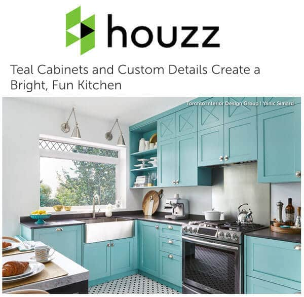 Teal Cabinets and Custom Details Create a Bright, Fun Kitchen
