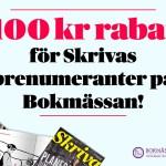 Få 1100 kronor i rabatt på Bokmässan