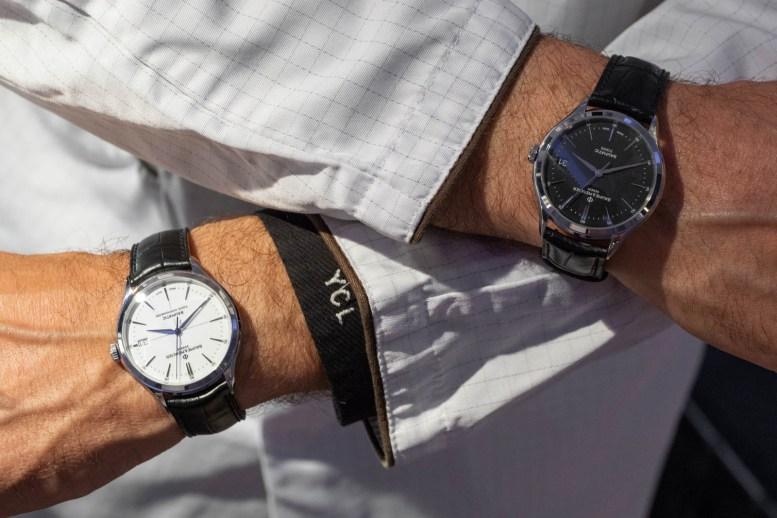 Double wrist: Baume & Mercier Clifton Baumatic.