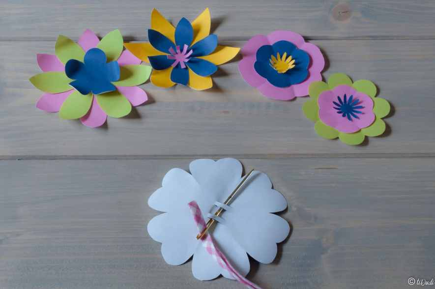 Couronne de fleurs à imprimer - tiDudi