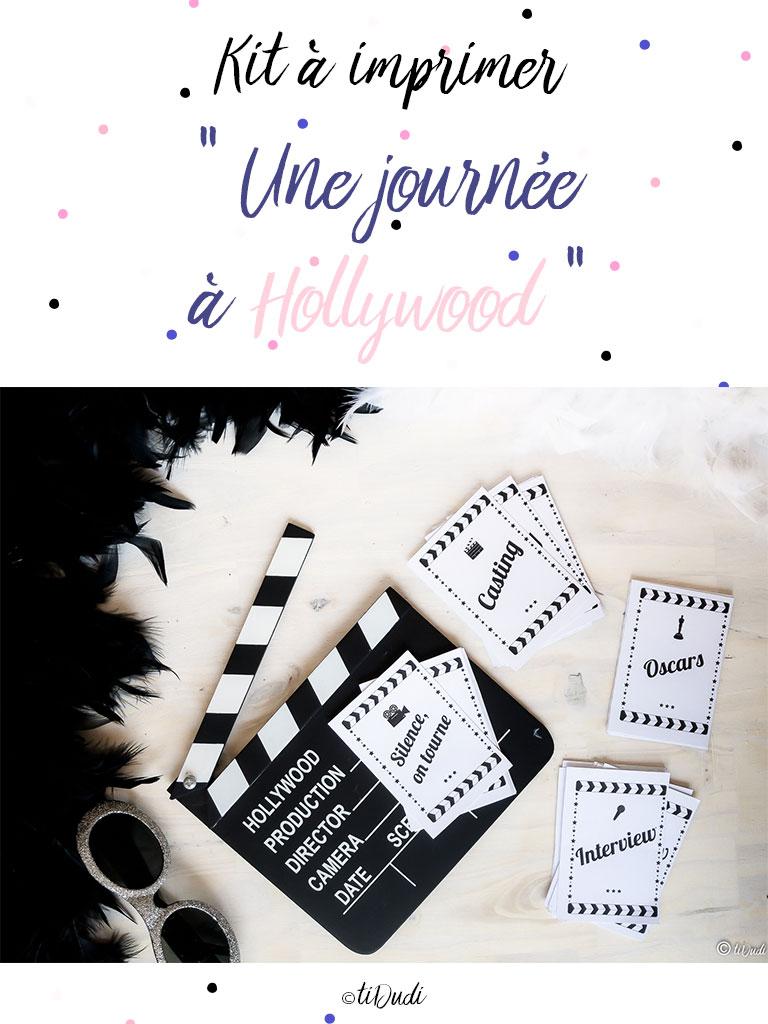 Kit cinéma - Une journée à Hollywood - tiDudi