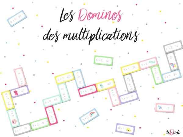 Dominos - Jeux de table de multiplication - tiDudi