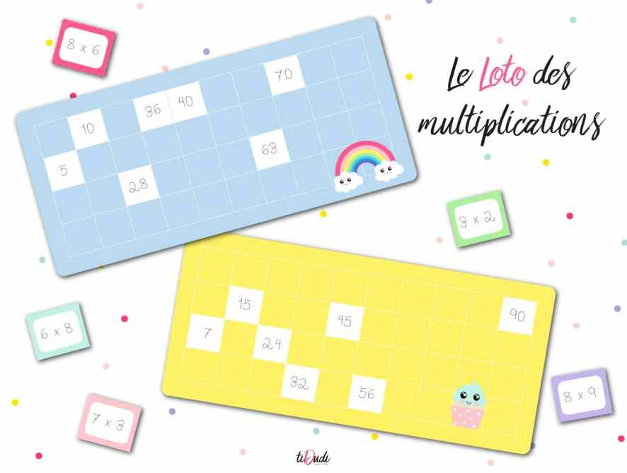 Le loto des multiplications : un jeu de tables de multiplication