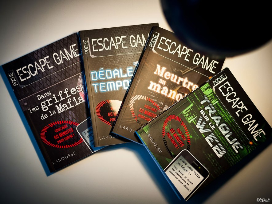 Collection Escape game de poche de Nicolas Trenti chez Larousse