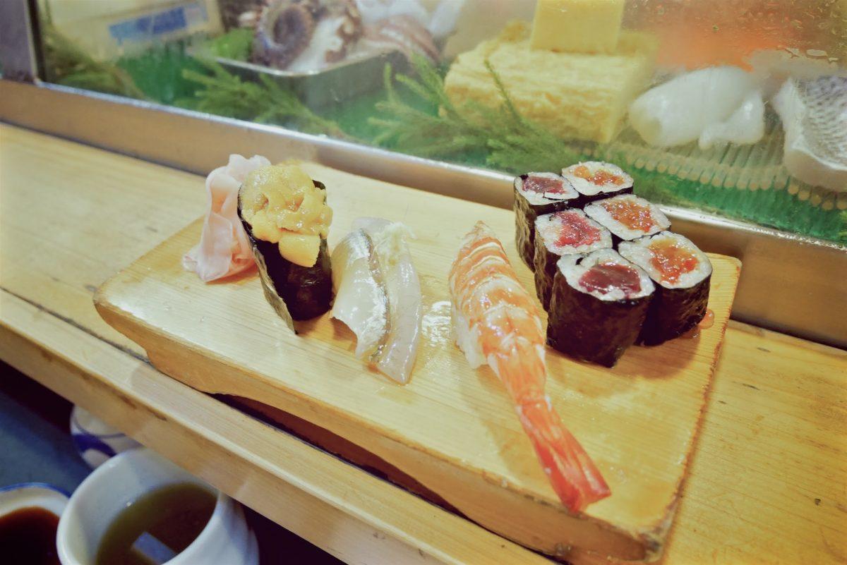 fresh sushi in japan