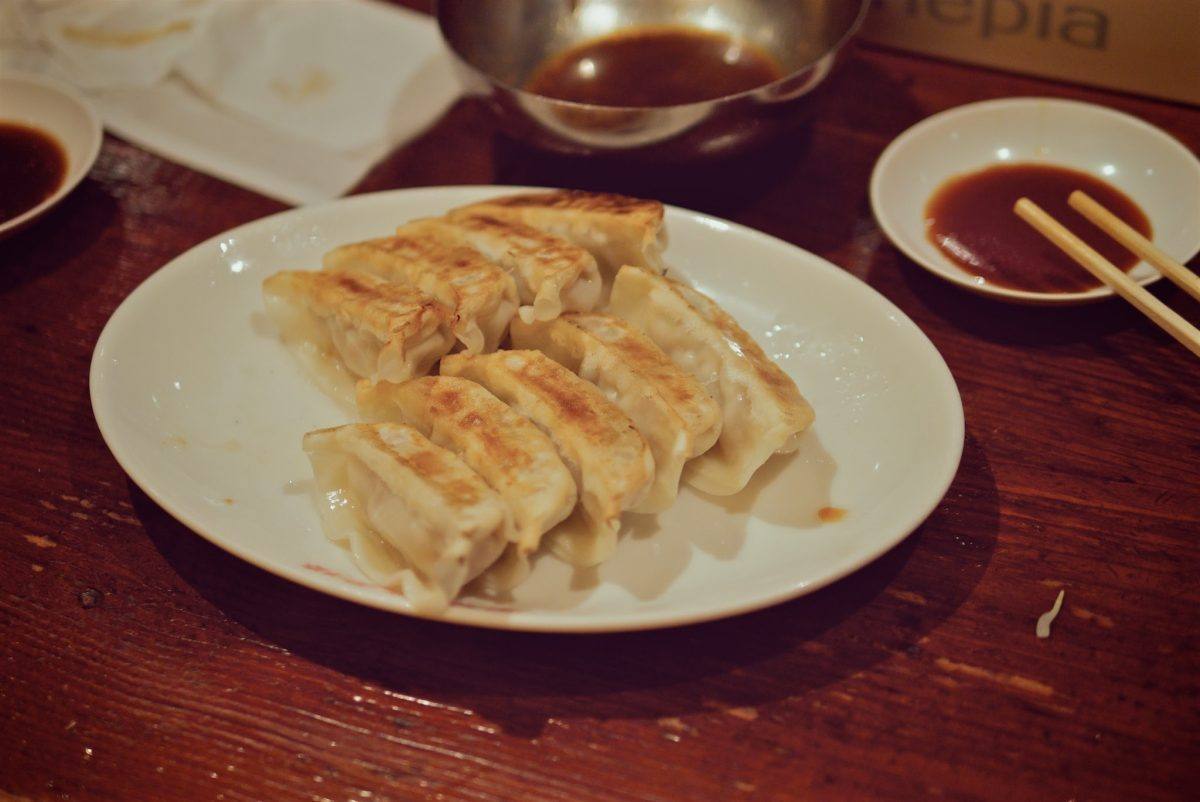 great gyozas in Japan