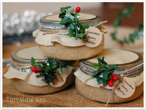 How to Make Cinnamon Honey Butter from Tidy Mom [Weekly Round-Up at High-Heeled Love]