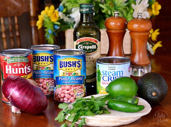 Bean Salsa Ingredients at TidyMom