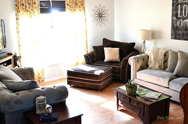 Yellow Brown Living Room Ideas