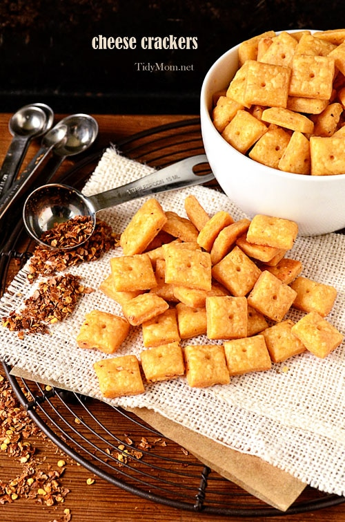 Cheese Crackers recipe at TidyMom