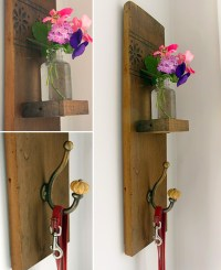 DIY Reclaimed Wood Sconce with Hook