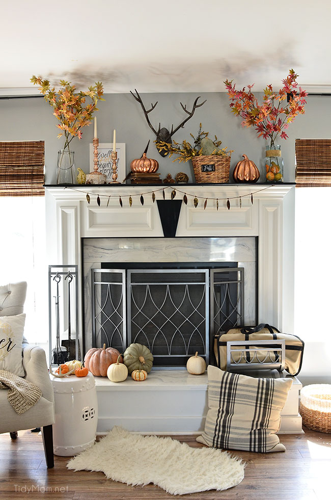 My Fall Mantel With Touches Of Copper Tidymom®