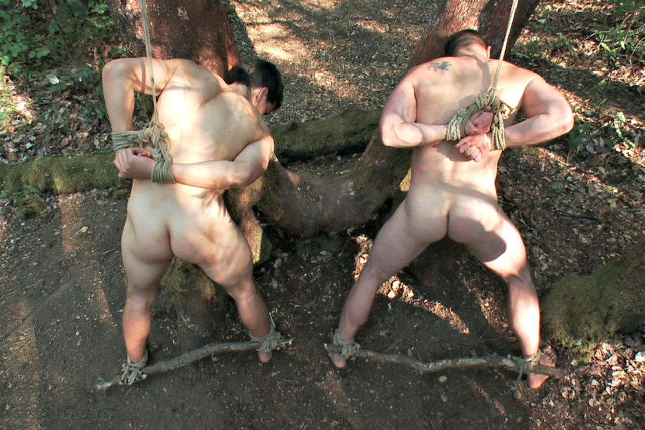 Naked Gay Gays Outdoor Bondage Photos You