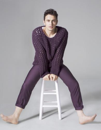 James Franco purple outfit