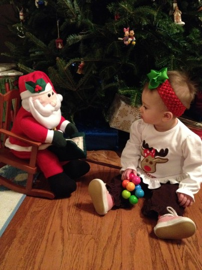 Staring contest with Santa.