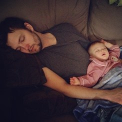 Another nap with Dad!