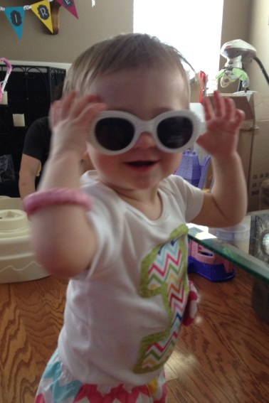 "Cool shades like her ""T""!"