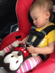 First nap in the big girl car seat!