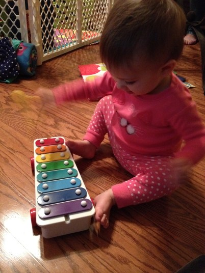 She got her own xylophone for home!