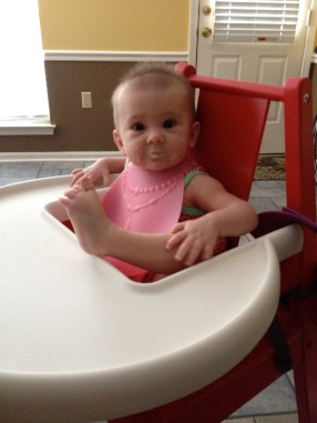 Not very lady like table manners.