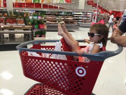 On day 5 of potty training, we ventured to Target in panties. Success. She was cool as school ;)