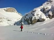 Etwas abseits des Gemmiweges findet sich auch Schneeschuhgelände