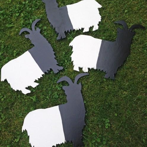 Die fertigen Ziegen